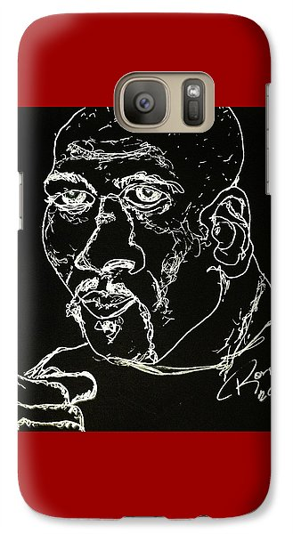 Galaxy Case featuring the drawing Rubin Hurricane Carter by Rand Swift