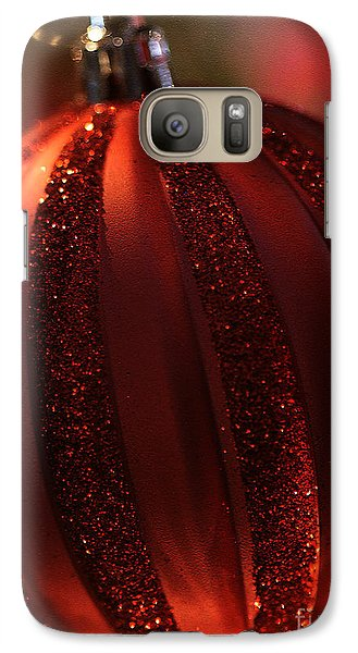 Galaxy Case featuring the photograph Ruby Red Christmas by Linda Shafer