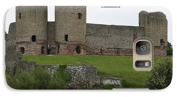 Galaxy Case featuring the photograph Ruddlan Castle 2 by Christopher Rowlands