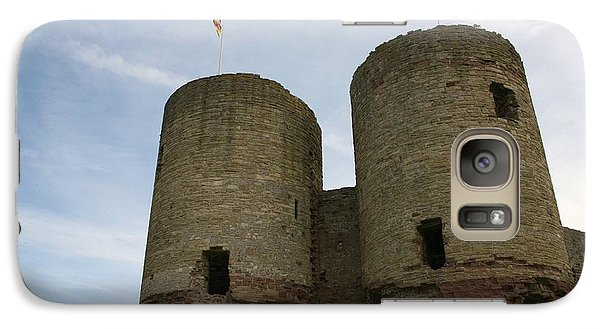 Galaxy Case featuring the photograph Ruddlan Castle by Christopher Rowlands