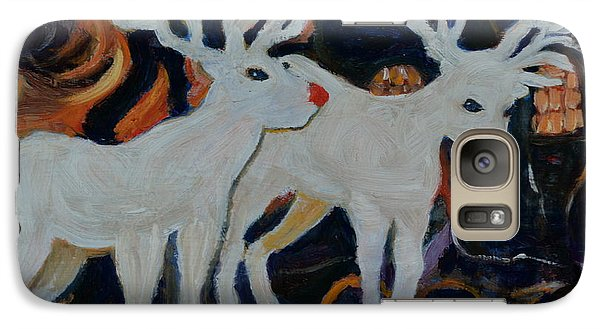 Galaxy Case featuring the painting Rudolph And Friend by Julie Todd-Cundiff