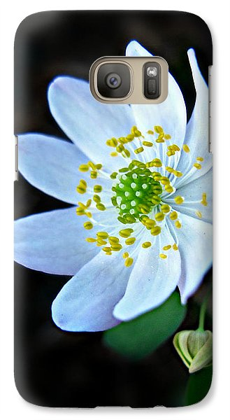 Galaxy Case featuring the photograph Rue Anemone by William Tanneberger