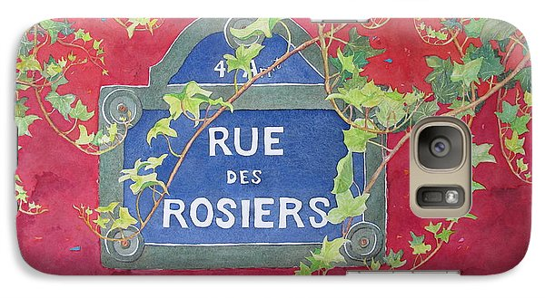 Galaxy Case featuring the painting Rue Des Rosiers In Paris by Mary Ellen Mueller Legault