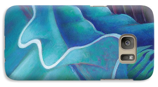 Galaxy Case featuring the painting Ruffles by Angela Treat Lyon