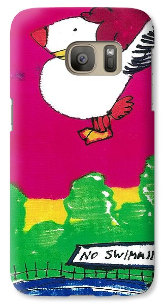 Galaxy Case featuring the drawing Ruffy The Rooster by Don Koester