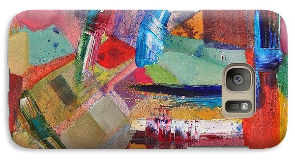 Galaxy Case featuring the painting Rugged Strokes by Jason Williamson