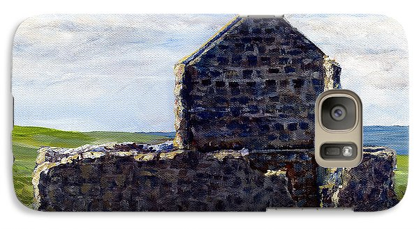 Galaxy Case featuring the painting Ruins In Tasmania On The Sea Shore by Lenora  De Lude