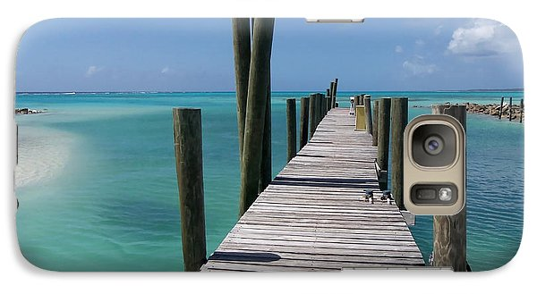 Galaxy Case featuring the photograph Rum Cay Marina Jetty In Bahamas by Jola Martysz