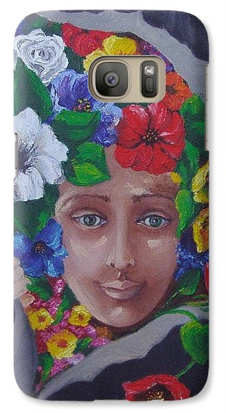 Galaxy Case featuring the painting Run Out The Good In You by Nina Mitkova