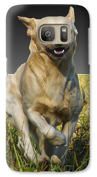 Galaxy Case featuring the digital art Run Puppy Run by B Wayne Mullins