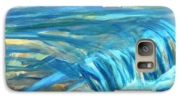 Galaxy Case featuring the painting Run River Run Over Rocks In The Sun by Betty Pieper
