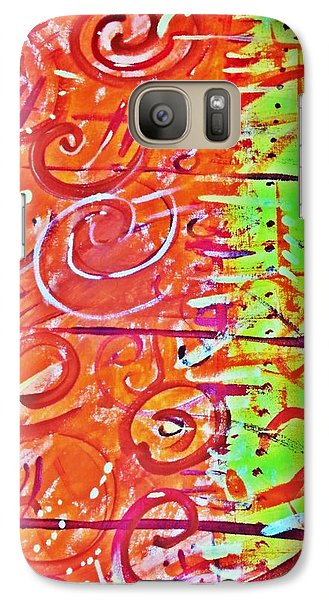 Galaxy Case featuring the painting Running Circles 'round The Sun by Yshua The Painter