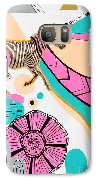 Zebra Galaxy S7 Case - Running High by Susan Claire