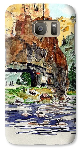 Galaxy Case featuring the painting Running In The Poudre Canyon by Tom Riggs