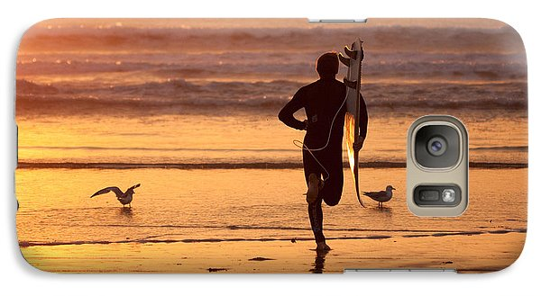 Galaxy Case featuring the photograph Running To Surf by Nathan Rupert
