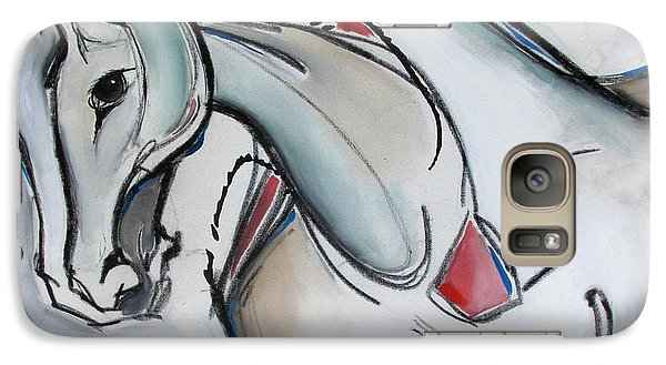 Galaxy Case featuring the painting Running Wild by Nicole Gaitan