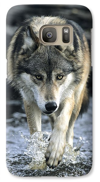 Galaxy Case featuring the photograph Running Wolf by Chris Scroggins