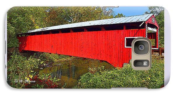 Galaxy Case featuring the photograph Rupert Covered Bridge Pennsylvania by A Gurmankin
