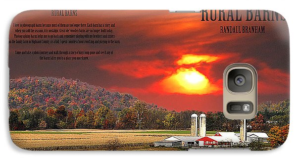 Galaxy Case featuring the photograph Rural Barns  My Book Cover by Randall Branham