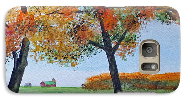 Galaxy Case featuring the painting Rural Color by Jack G  Brauer