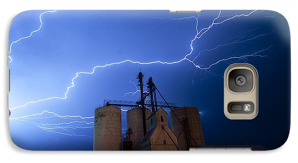 Galaxy Case featuring the photograph Rural Lightning Storm by Art Whitton