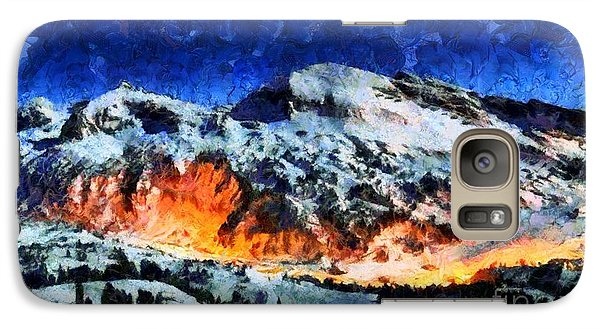 Galaxy Case featuring the painting Rural Radiance  by Elizabeth Coats