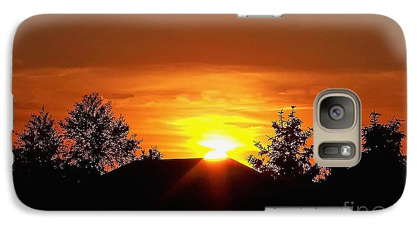 Galaxy Case featuring the photograph Rural Sunset by Gena Weiser