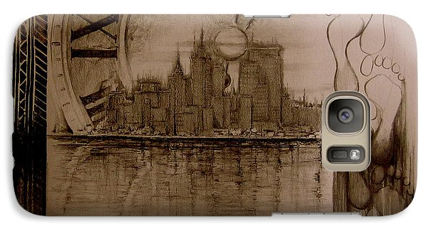 Galaxy Case featuring the drawing Rush Hour by Geni Gorani