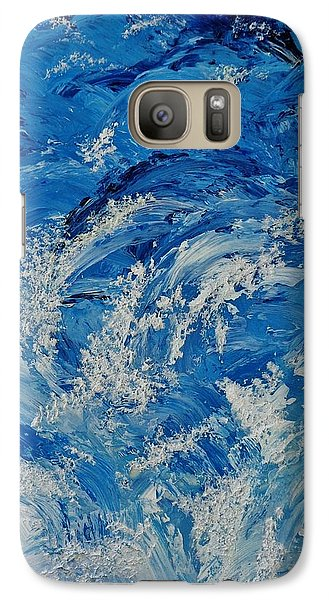 Galaxy Case featuring the painting Rush by Katherine Young-Beck
