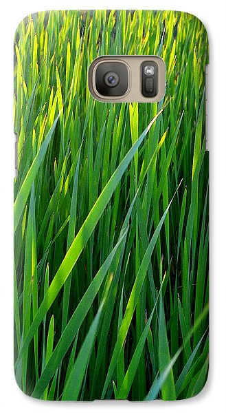 Galaxy Case featuring the photograph Rushes In The Light Wc 2  by Lyle Crump