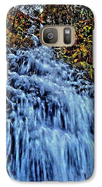 Galaxy Case featuring the photograph Rushing Falls by Andy Heavens