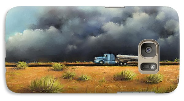 Galaxy Case featuring the painting Rushing Home by S G