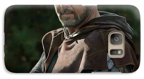 Galaxy Case featuring the digital art Russell Crowe As Robin Hood by Bob Nolin
