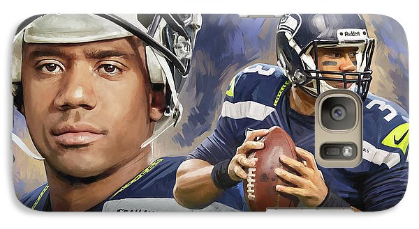 Galaxy Case featuring the painting Russell Wilson Artwork by Sheraz A