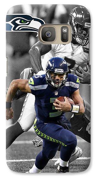 Russell Wilson Seahawks Galaxy Case by Joe Hamilton