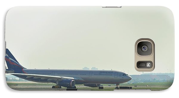 Galaxy Case featuring the photograph Russian Airlines by Puzzles Shum