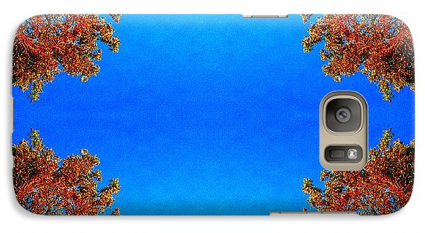 Galaxy Case featuring the photograph Rust And Sky 1 - Abstract Art Photo by Marianne Dow