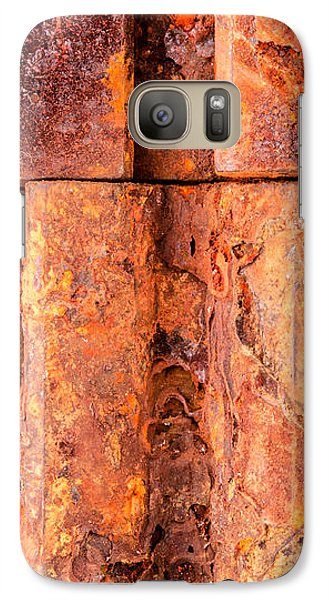 Galaxy Case featuring the photograph Rusted Gears  by Jim Hughes