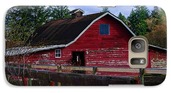 Galaxy Case featuring the photograph Rustic Old Horse Barn by Jordan Blackstone