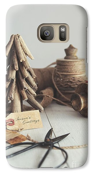 Galaxy Case featuring the photograph Rustic Twine And Ribbon For Wrapping Gifts by Sandra Cunningham