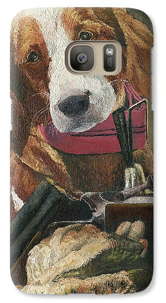 Galaxy Case featuring the painting Rusty - A Hunting Dog by Mary Ellen Anderson