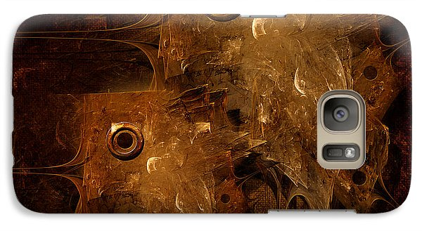 Galaxy Case featuring the digital art Rusty by Alexa Szlavics