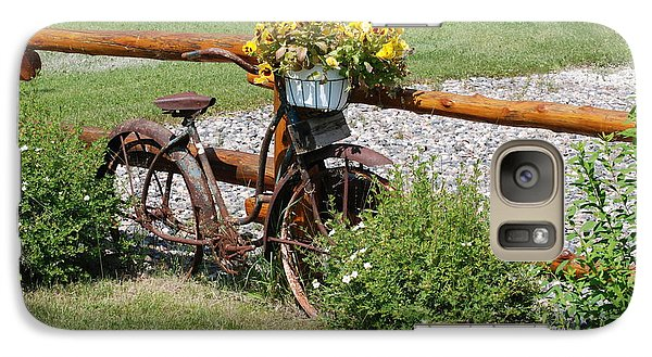 Galaxy Case featuring the photograph Rusty Bike by Mark McReynolds