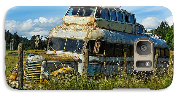 Galaxy Case featuring the photograph Rusty Bus by Crystal Hoeveler