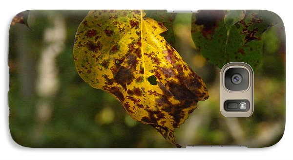 Galaxy Case featuring the photograph Rusty Leaf by Nick Kirby