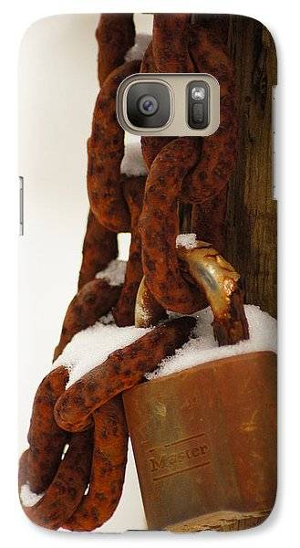 Galaxy Case featuring the photograph Rusty Lock by Angi Parks