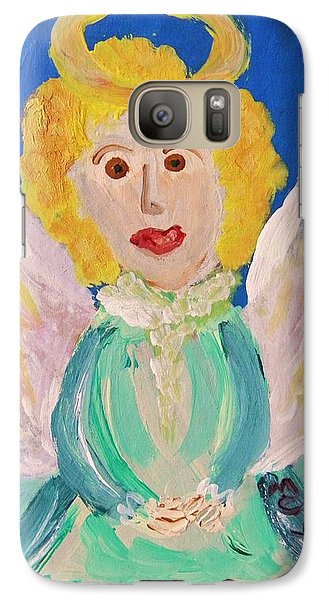 Galaxy Case featuring the painting Ruth E. Angel by Mary Carol Williams