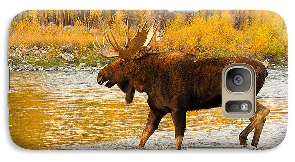 Galaxy Case featuring the photograph Rutting Bull by Aaron Whittemore