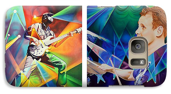 Galaxy Case featuring the painting Ryan And Kris by Joshua Morton