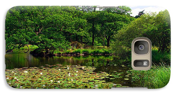 Galaxy Case featuring the photograph Rydal Water Lilies by Graham Hawcroft pixsellpix